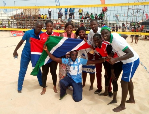 Gambia Beach V'ball teams finish 7th and 8th at 1st African Beach Games – Foroyaa Newspaper