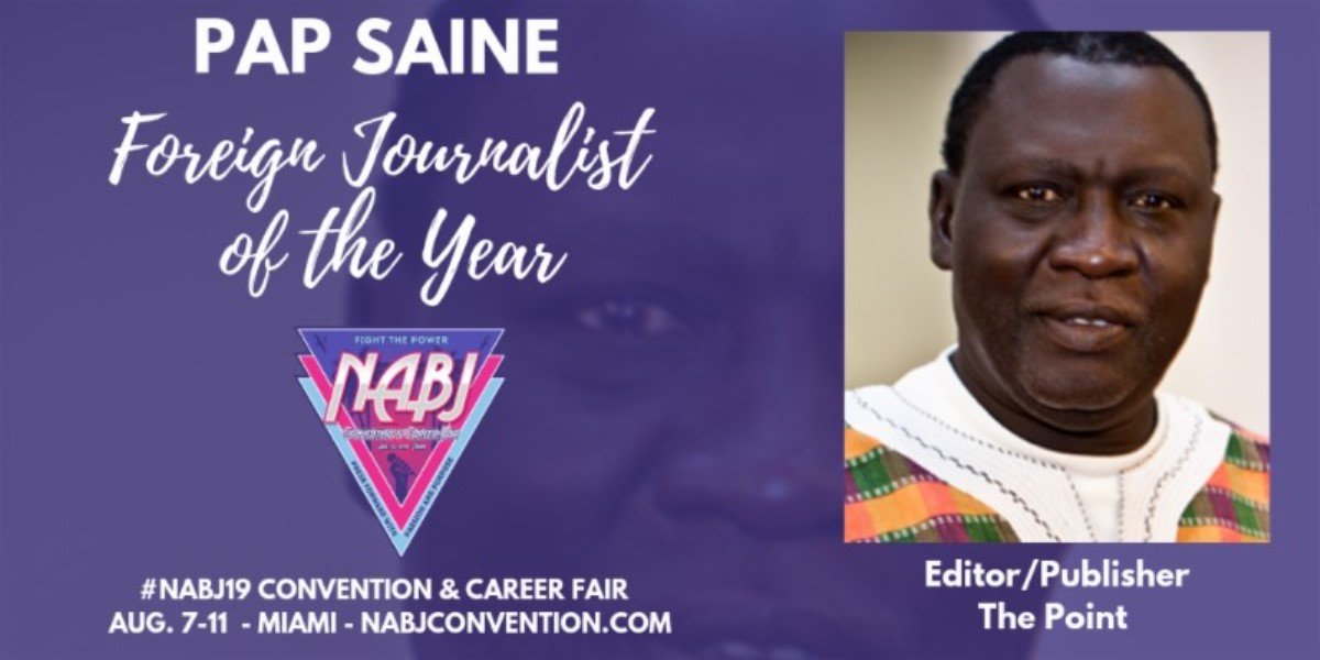 NABJ Announces Pap Saine as 2019 Percy Qoboza Foreign Journalist of the Year