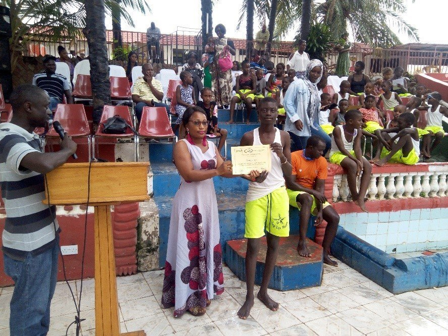 Swim for Life Gambia Awards Students
